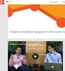 A screen grab from Tuesday's first Google Analytics Academy Hangout.