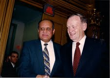 Mobeen Khaja with former prime ministers Jean Chretien and Paul Martin. APMC Photo.