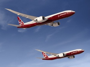 Boeing  777-8X and 777-9X.  Boeing photo.