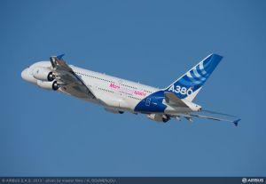The AIrbus A380 in Dubai. Airbus photo.