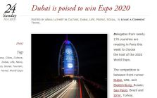 My previous post on Expo 2020