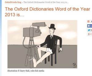 A screenshot of the Oxford University Press post announcing the Word of the Year.
