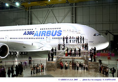 At US$414 million, the A380 is the most expensive. Airbus photo.