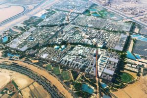 An artist's impression of Masdar City. Masdar City photo.
