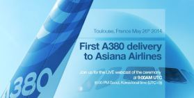 An Airbus post on Monday's delivery. Courtesy: Airbus
