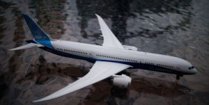 The Boeing 787-9 Dreamliner (from my collection).