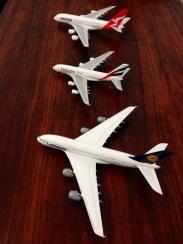 Lufthansa, Emirates and Qantas superjumbos