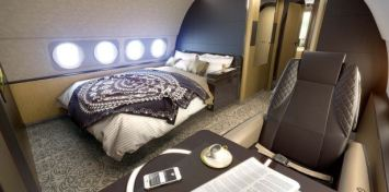 A bedroom on the ACJ319 Elegance