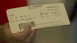 The boarding pass for the first A350 flight.