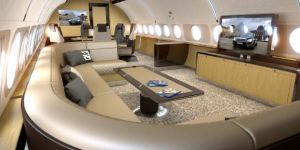 The Lounge on the ACJ319 Elegance