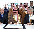 Prince Alwaleed signs the order for the A380 superjumbo in 2007.