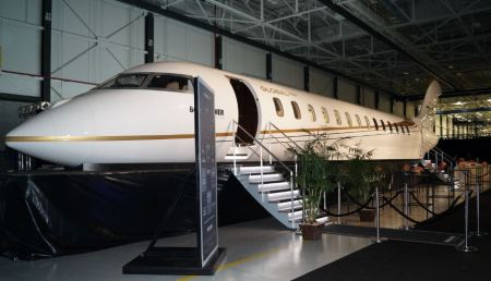 A full-scale mock-up of the Global 7000